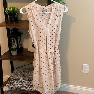 Light pink patterned tank top dress